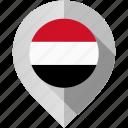 flag, map, marker, yemen icon