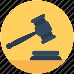 auction, auction hammer, bid, gavel, mallet icon