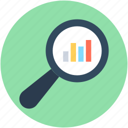 bar chart, bar graph, infographics, search chart, search graph icon