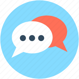 chat balloon, chat bubbles, comments, speech balloon, speech bubble icon
