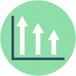 ascending chart, bar chart, bar graph, growth chart, progress chart icon
