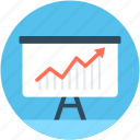 analytics, graph presentation, growth chart, line chart, presentation icon