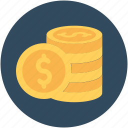 cash, coin, currency coin, dollar coin, money icon