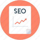 graph report, ranking report, seo, seo analyzer, seo report icon