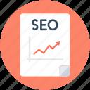 graph report, ranking report, seo, seo analyzer, seo report icon