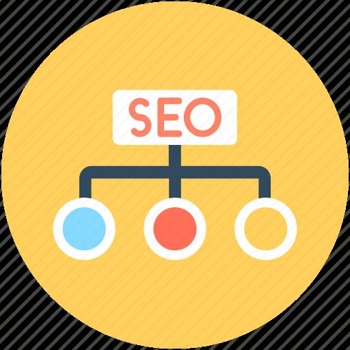 hierarchy, search engine, seo, seo hierarchy, seo nodes icon