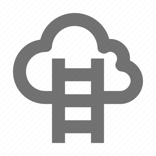 business, business achievement, career, cloud, cloud ladder icon