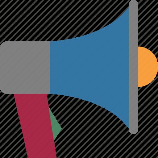 Loud hailer, bullhorn, megaphone, speaker, speaking trumpet icon