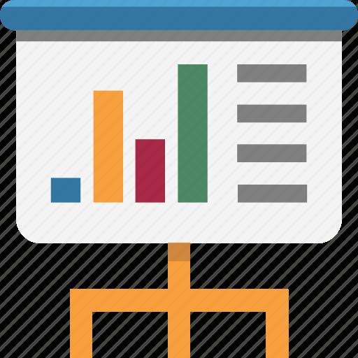 business chart, business presentation, graph board, presentation, statistics icon