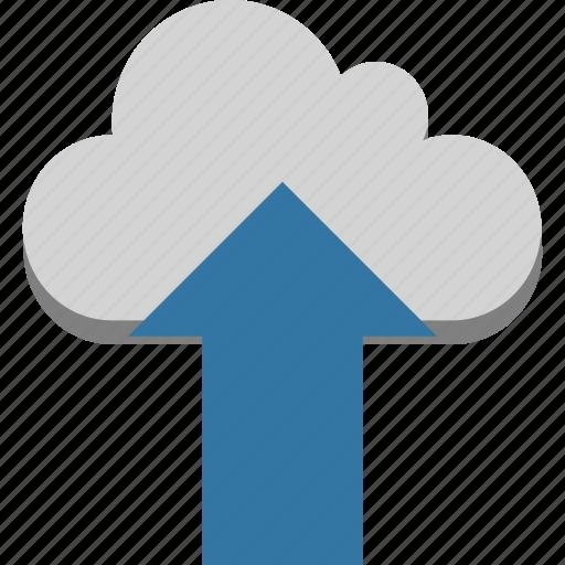 cloud computing, cloud technology, cloud upload, cloud uploading, finance, up arrow, uploading arrows icon