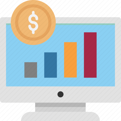 Graph, business graph, graph with earning, online graph, online graph with dollar, line graph with dollar icon - Download