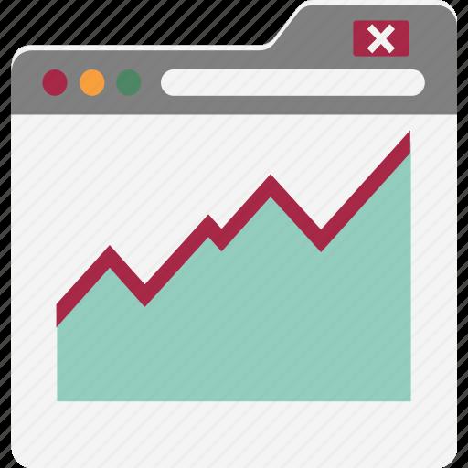analysis graph, analytics, diagram, infographics, online analytics, online graphs, web graph icon