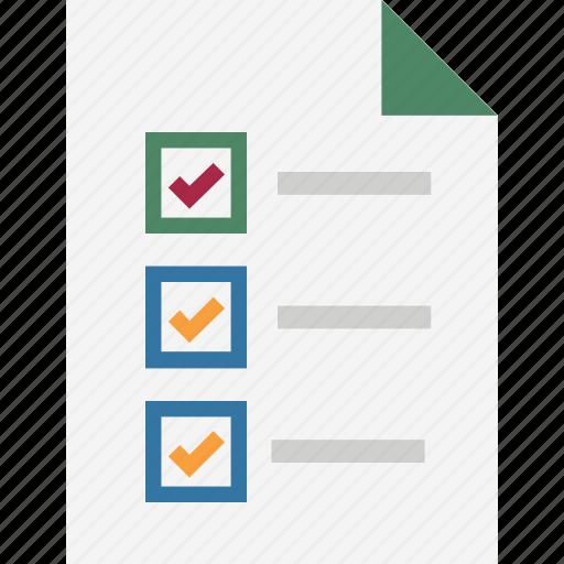 agenda, checklist, checklist report, list, memo, notes, shopping list icon