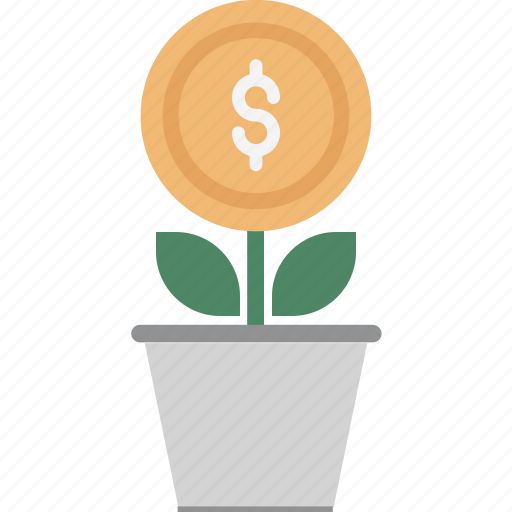 business expand, business growth, investment, money plant, plant icon
