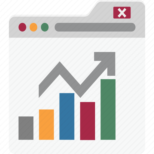 analytics, diagram, graph on web, graph software, infographics, online graphs icon