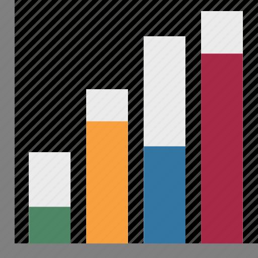 Business chart, bar chart, progress chart, bar graph, infographics icon