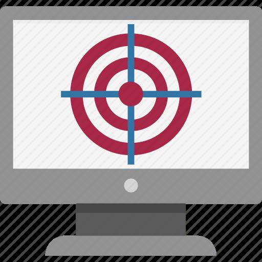 focus, focus market, magnifying focus, online market focus, online target, target on monitor, target sale icon