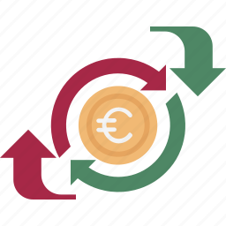 currency, currency exchange, dollar, dollar valuation, foreign exchange icon