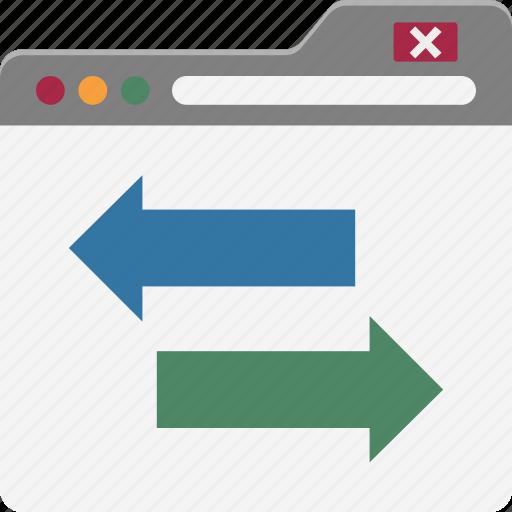 data exchange, online data transfer, slider exchange, web arrows, web data, web design, web settings icon