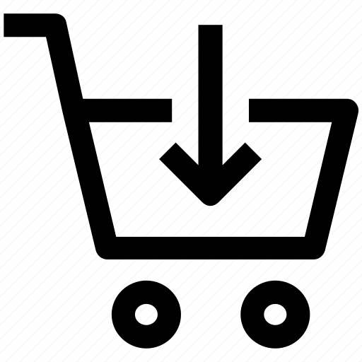 .svg, cart, cart in, down, market, shopping cart icon