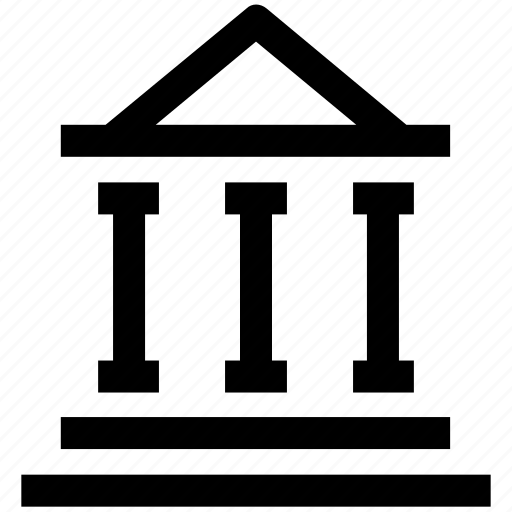 .svg, banking, building, columns, hostel, school icon