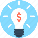 bulb, business idea, creative idea, innovative idea, invention icon