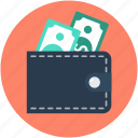 billfold wallet, cash wallet, money wallet, purse, wallet icon