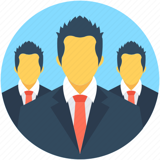 businessmen, employees, group, people, team icon