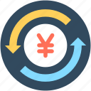 currency, currency exchange, foreign exchange, money exchange, yen exchange icon
