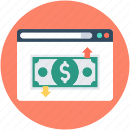 banknote, commerce, online business, online earning, online work icon