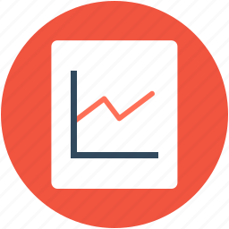 analytics, growth chart, infographics, line graph, seo graph icon