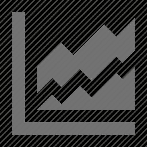 analysis, business chart, chart, stats, zigzag chart icon