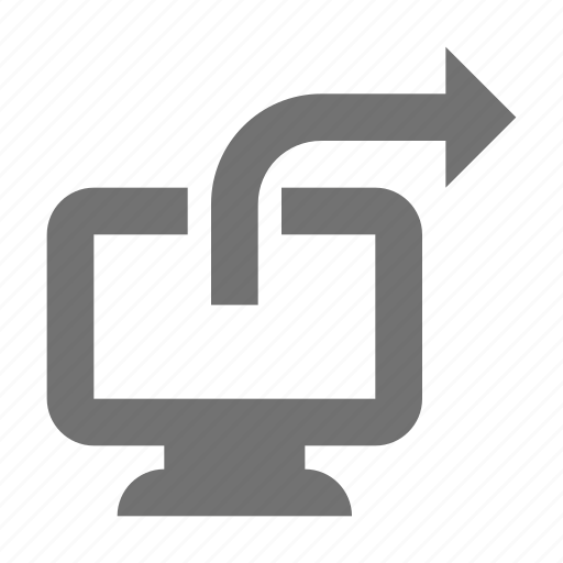 directional, forward, right arrow, screen arrow, west icon