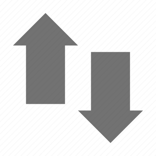 arrows, business evaluation, direction arrows, down arrow, up arrow icon