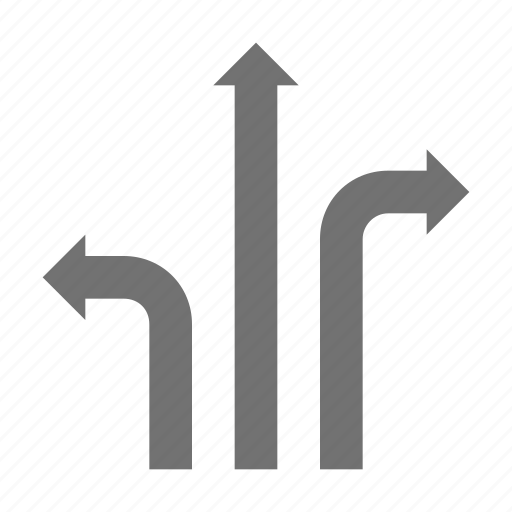 arrows, directions, road sign, traffic arrows, traffic guidance icon