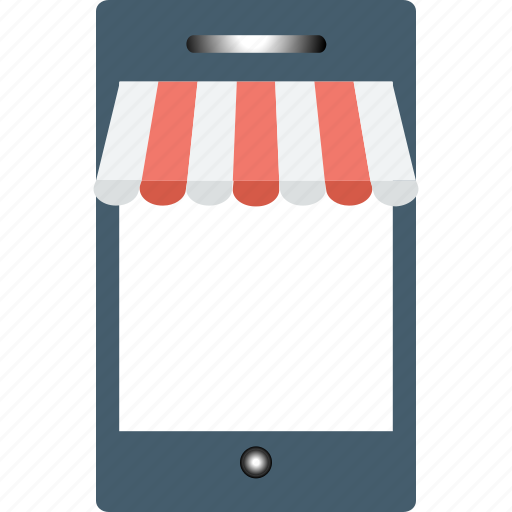 commerce, m commerce, mobile, online shop, online store icon