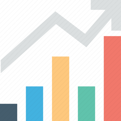 analytics, business chart, infographic, line graph icon