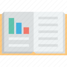 booklet, business graph, graph book, guide book, report book icon