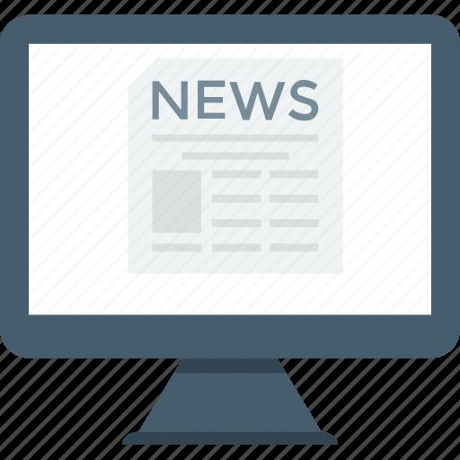 article, blog, media, news, news media, print media, social media icon