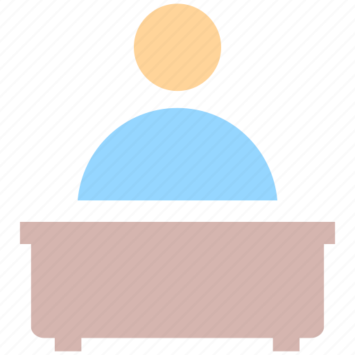 conference, interview, lecture, public speaker, speech icon
