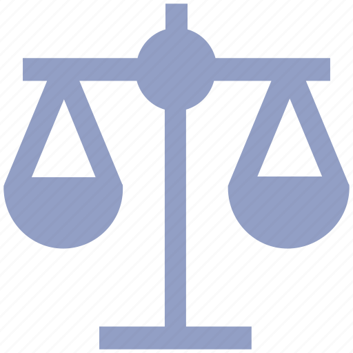 balance, justice, law, modern, scales, weight icon