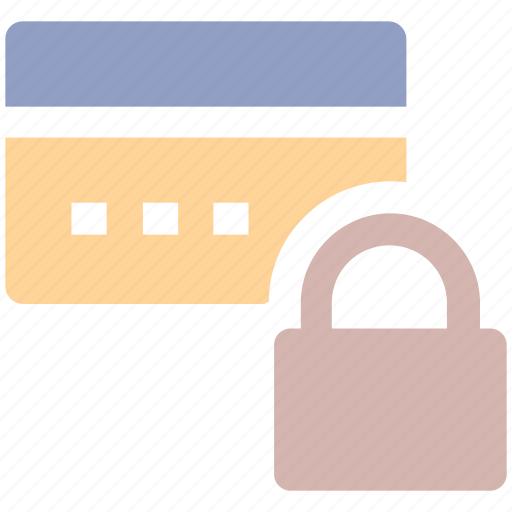 card, credit card, lock, pin lock, security icon