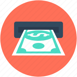atm withdrawal, banking, banknote, cash withdrawal, transaction icon