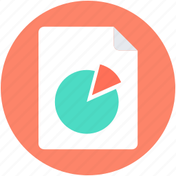 business report, graph report, pie chart, pie graph, statistics icon
