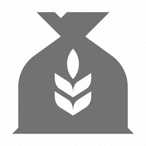 agriculture, food, grains, wheat ear, wheat sack icon