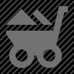 barrow, garden trolley, hand truck, trolley, wheelbarrow icon