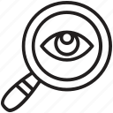 analysis, focus, monitoring, search, survey icon