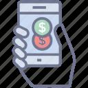 mobile bank, mobile banking, mobile deposit, online banking, smart banking icon