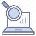 market research, analytics, barchart report, statistic report, growth analysis icon