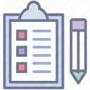 agenda, checklist, plan list, task, todo list icon
